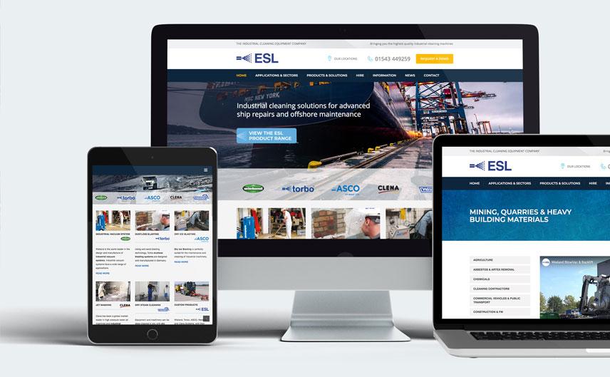 ecoblast supplies responsive website