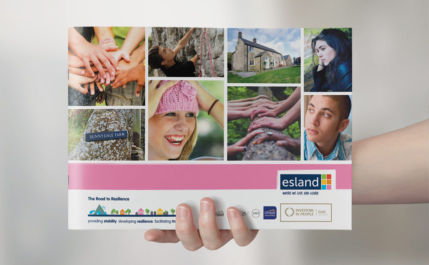 esland care brochure design by ego