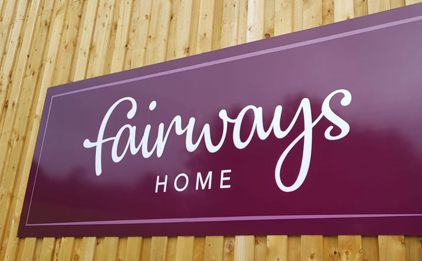 fairways garden centre home signage