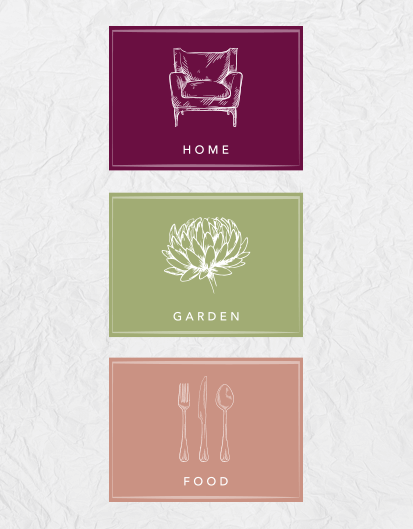 fairways home garden and food icons