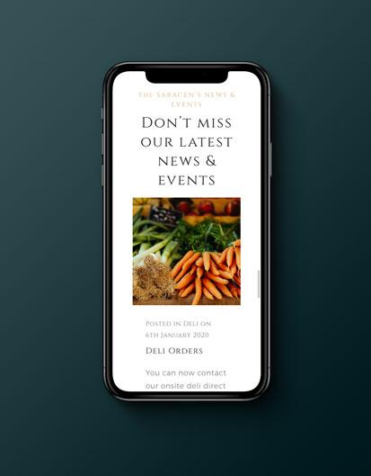 the saracens head website on mobile