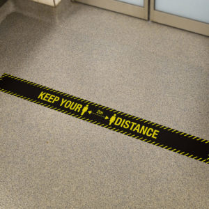 keep your distance black sticker