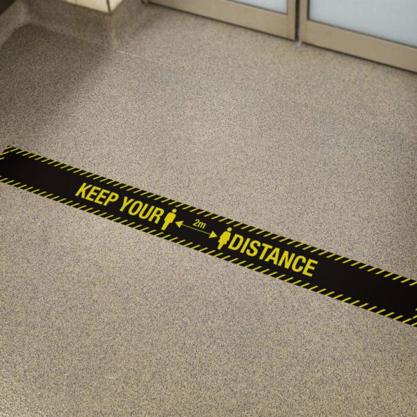 keep your distance black sticker