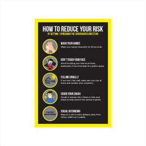 reduce risks of coronavirus poster