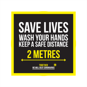 save lives wash your hands coronavirus floor sticker