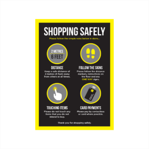 shopping safely poster