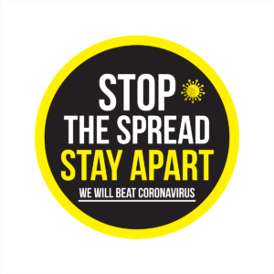 stop the spread circular floor sticker