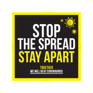 stop the spread of coronavirus square floor sticker