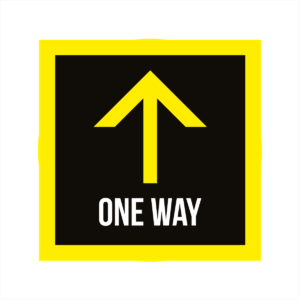 one way square floor stickers