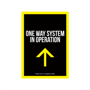 one way system poster